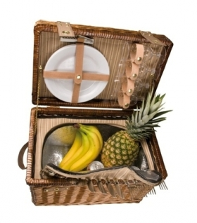 Wicker Picnic basket for 4