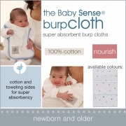 Babysense BURP CLOTH (2 PACK) - Stone