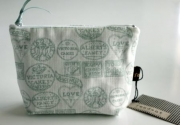 Fondant Textiles Happy Union duck egg print - Cosmetic Bag
