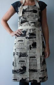 Fondant Textiles 'TOILE DE HOTCHKISS' PRINT - FULL APRON WITH POCKET