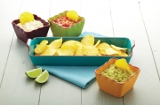 Kitchencraft World of Flavours Mexican 4 Piece Ceramic Dip Serving Set