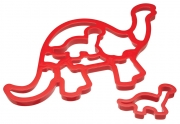 Kitchencraft Let's Make Dinosaurs Plastic Cookie Cutter Set