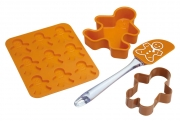 Kitchencraft Let's Make Children's 4 Piece Gingerbread Baking Set