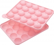 Kitchencraft Sweetly Does It Silicone 20 Hole 2 Part Cake Pop Baking Pan with 50 Cake Pop Sticks