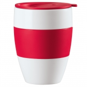 Koziol AROMA TO GO insulated cup with lid RED