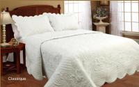 Exclusive Home Fashions 'Classique' flat quilt set - white - KING