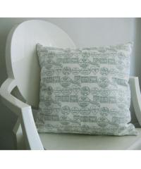 Fondant Textiles Happy Union' duck egg print 100% cotton cushion cover