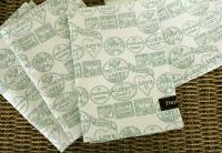 Fondant Textiles Happy Union duck egg print 100% cotton napkins - Set of 4