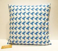 Handmade By Me Cushion Cover Origami birds - Sky blue or black
