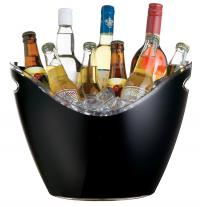 Kitchencraft Bar Craft Black Acrylic Drinks Pail / Cooler